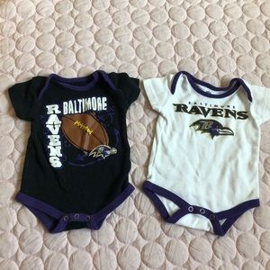Pair of Baltimore Ravens Onesies